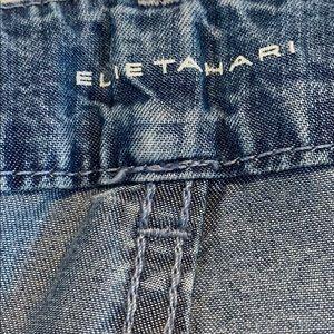 Elie Tahari Pants - 💙 Elie Tahari wide leg chambray Capri pants B